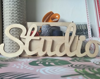 STUDIO / Wooden Sign / Wall Sign / Hanging Sign / Text Sign / Creative Space / Craft