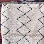 Kenza Authentic Handmade traditional Moroccan Berber Rug – Beni Ourain.