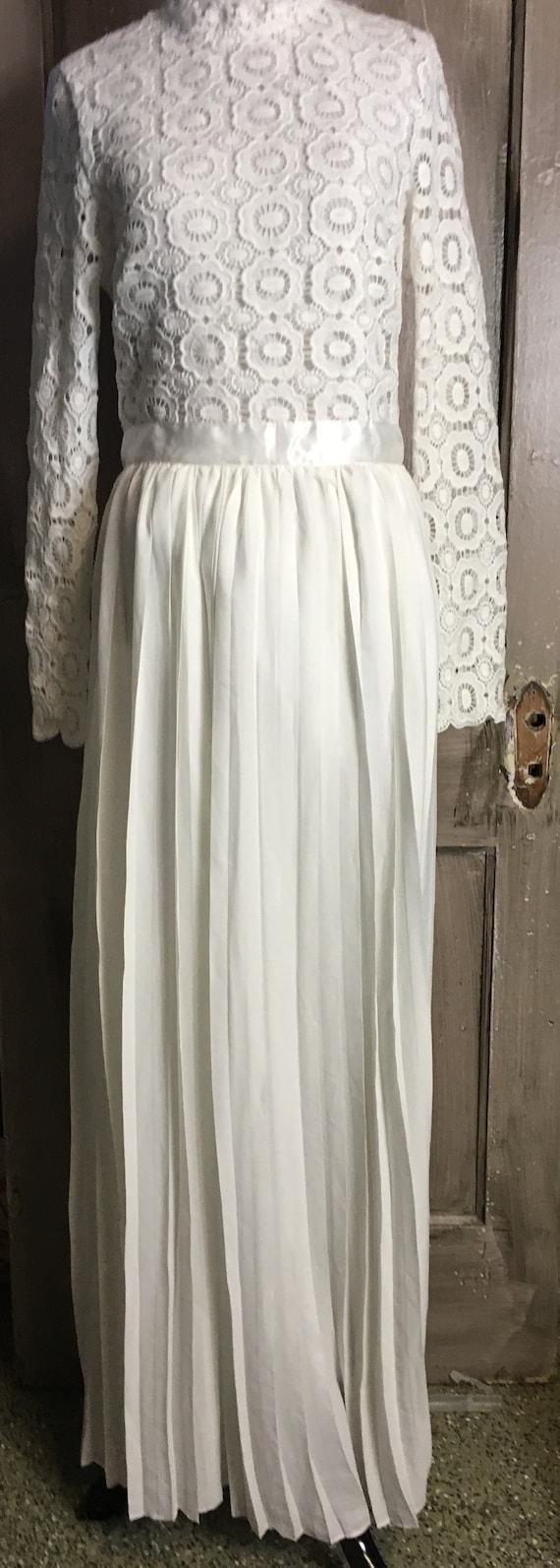 Vintage 60's-70-s Long White Dress
