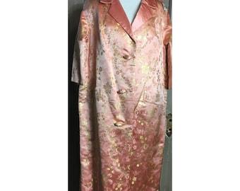 60's Pink Taffeta Opera Coat