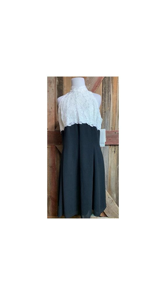 Jessica McClintock Vintage 90's Black/White Dress