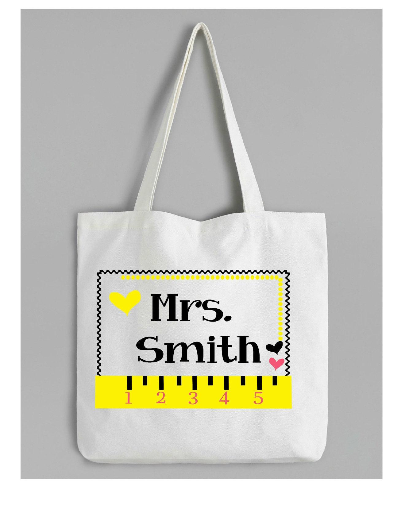 Lehrer Wertschätzung Einkaufstasche personalisiertes | Etsy
