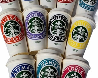 Personalized Starbucks Cup Gift for Women and Teens, Back to School Gifts for Teachers, Coffee Lover Gift, Custom Eco Friendly Coffee Mug