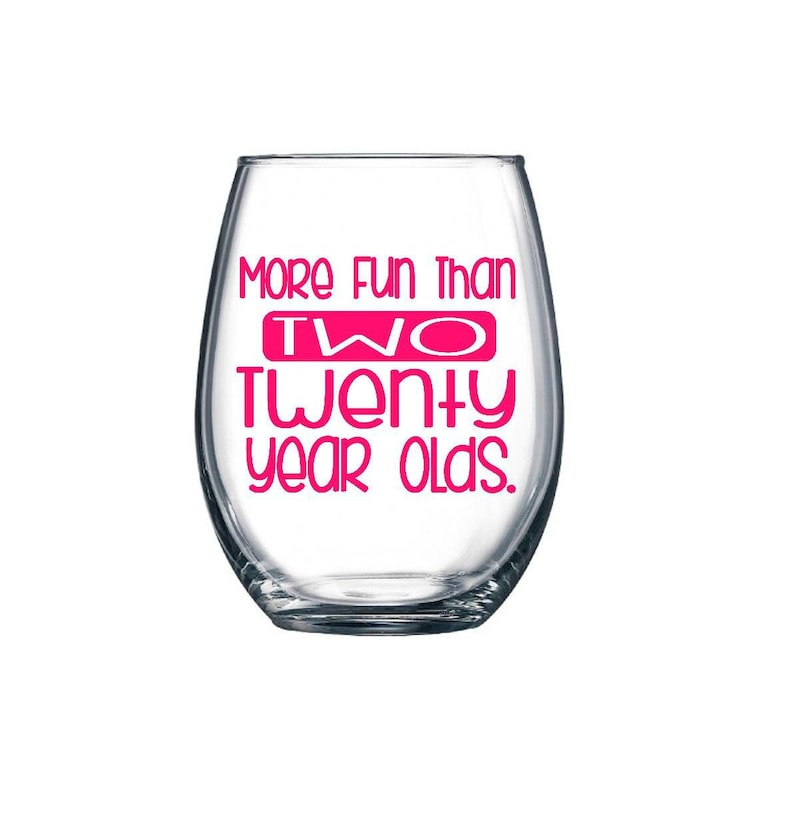 40th Birthday Gifts For Women Funny Wine Glass Best