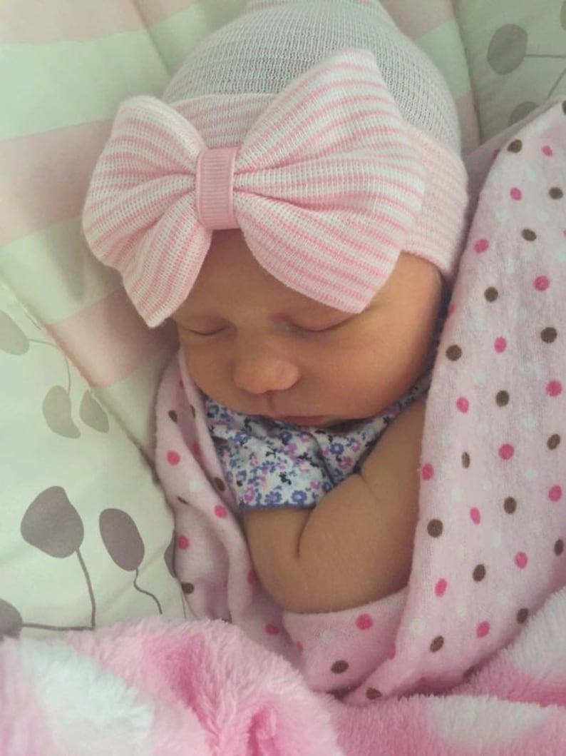 ddffdcfc437 Baby girl hat newborn girl hat newborn hospital hat infant hat