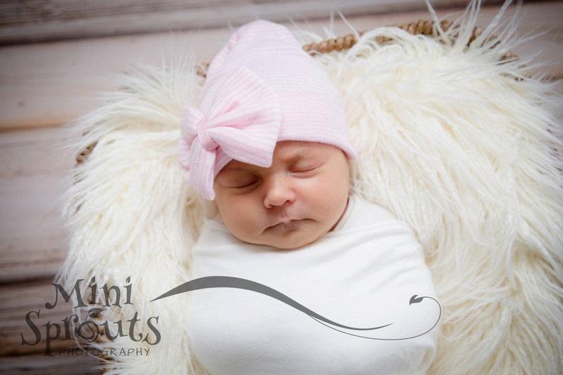 1cc9bff7006 Newborn hospital cap baby girl beanie hospital outfit baby