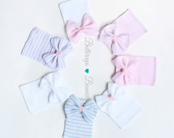 Coming home outfit, baby girl hat, newborn hat, infant girl hat, baby hospital hat, newborn hat, newborn hospital hat, hospital bow hat