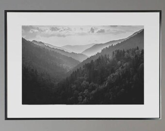 Smoky Mountains Art, Great Smoky Mountains, National Park, Tennesse, North Carolina, Photography, Fine Art, Mountains Wall Art, Winter Art