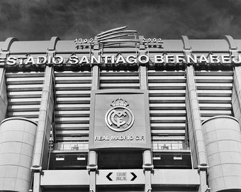 Real Madrid Photo Print, Real Madrid Poster, Madrid Wall Art, Santiago Bernabeu Poster, Spain Football, Cristiano Ronaldo.