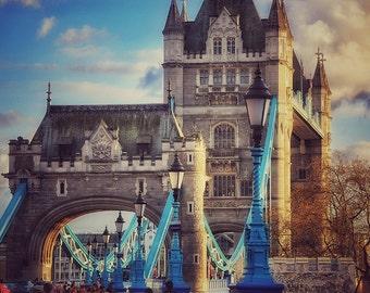 London Photography, London Bridge Print, Tower Bridge Photography, Square Print, England Fine Art, Wall Art, Large Wall Art, Living Room Art