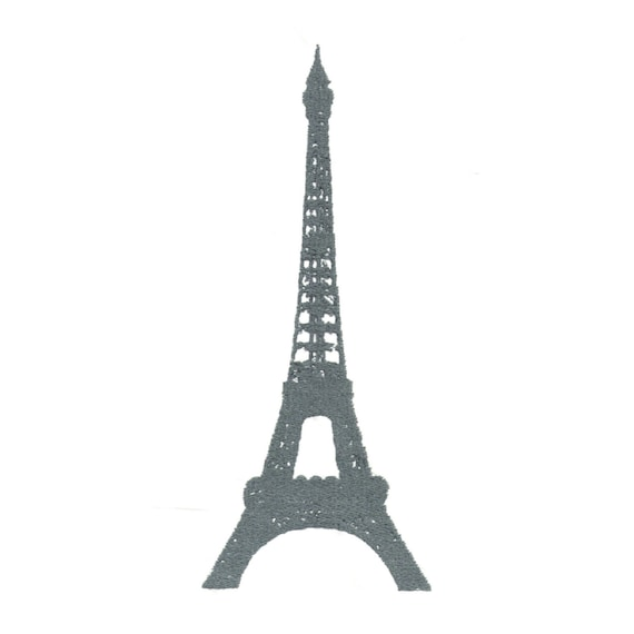 Paris Eiffel Tower Embroidery Design Machine Embroidery Etsy