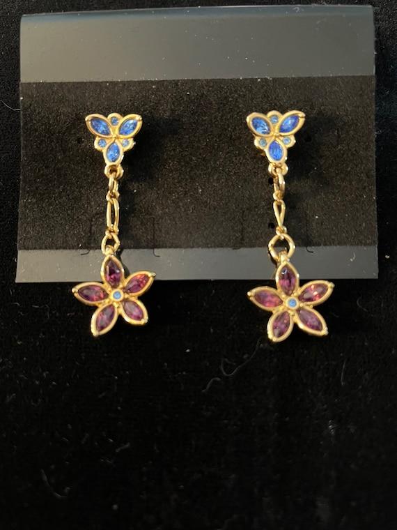 Swarovski signed earrings