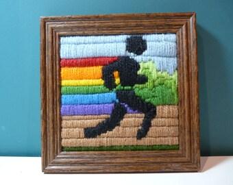 Framed Cross Stitch Runner