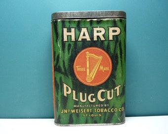 Harp Tobacco Tin