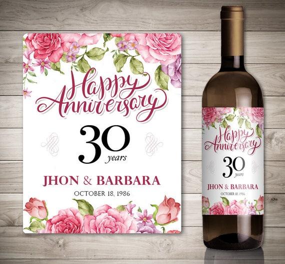 Mariage Anniversaire Vin étiquettes Personnalisé Anniversaire Vin étiquette étiquette De Vin Personnalisée Mariage Anniversaire Anniversaire De