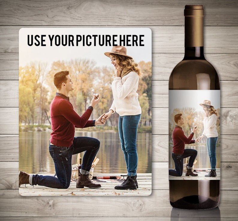 Custom Photo Wine Label for Wine Lovers