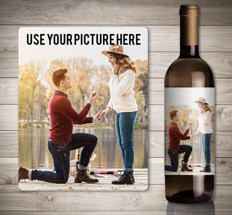 Custom Photo Wine Label for Wine Lovers