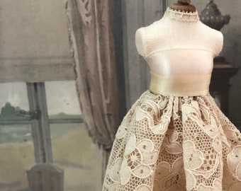 Miniature Dress, Dollhouse Dress, Dressed Mannequin, Miniature Boudoir, Miniature Clothing, Dollhouse Dress, Dollhouse Fashion