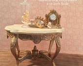 Miniature French Table, Miniature Table, Dollhouse Furniture, French Provencal Table, 18th Century Baroque Style Table.