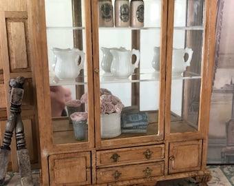 Miniature Cabinet, Dollhouse Hutch Furniture, Dollhouse, Miniature Furniture, Miniature French Style Hutch