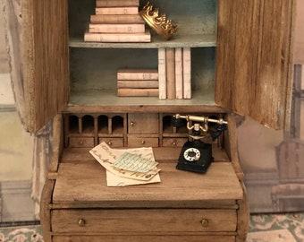 Miniature Armoire, 1:12 Dollhouse Furniture, Miniature Cabinet, Miniature Curio, Miniature French Provencal, French Country Miniatures