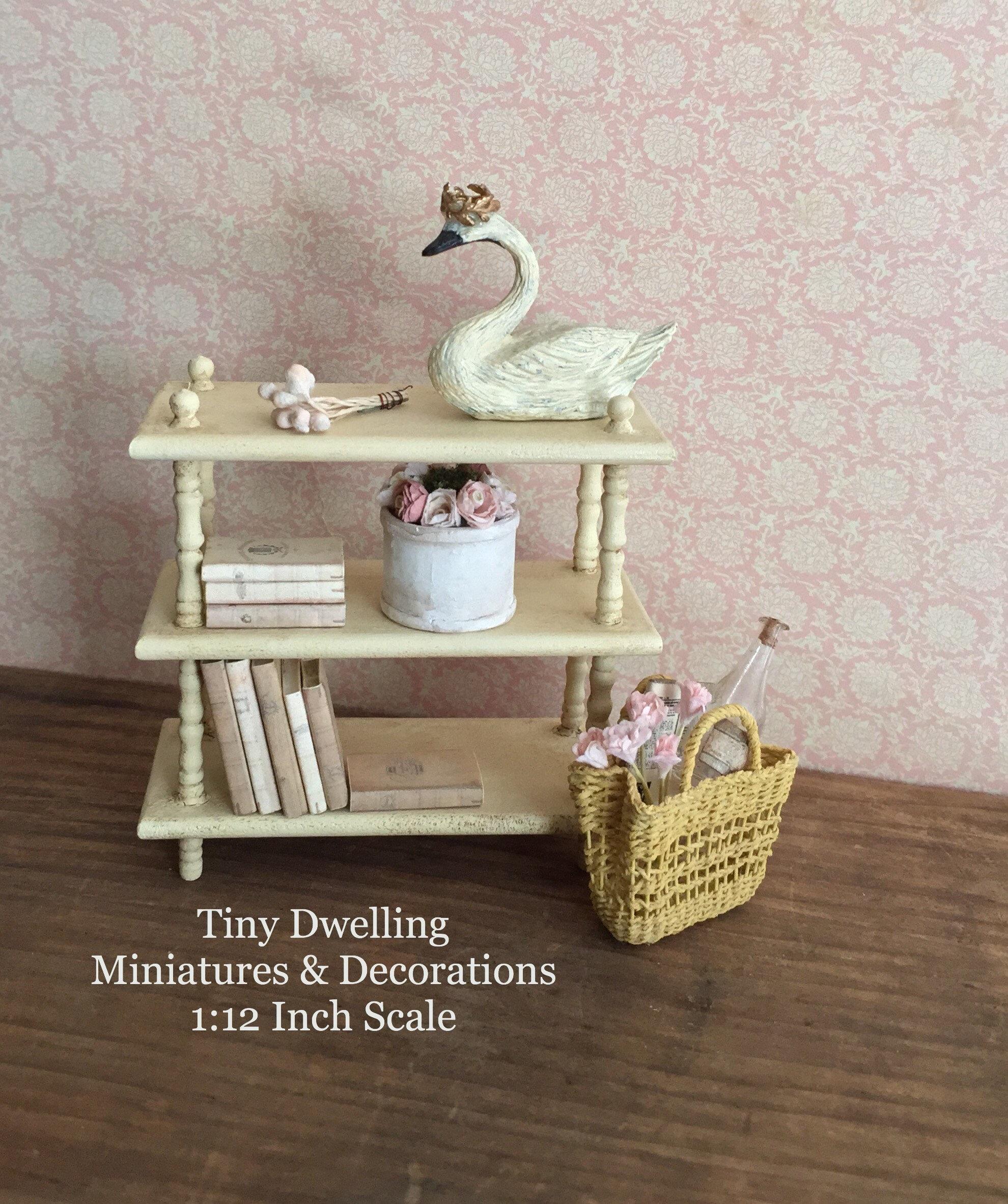 Miniature Bookcase Miniature Shelving Miniature Furniture French Country Miniatures Miniature Book Shelf