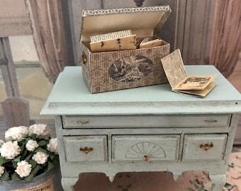 Miniature Letter Box, Dollhouse Letter Holder, Dollhouse Book Holder, Dollhouse Storage