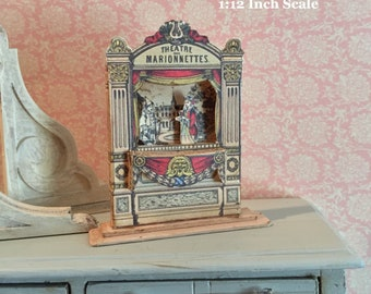 Dollhouse Paper Theater, Miniature Paper Theater, Miniature Theatre, Miniature Marionette