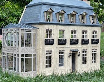 French Dollhouse, Miniature Chateau, Dollhouse, French Dollhouse, French Country Dollhouse