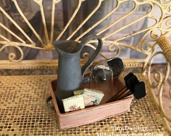 Miniature Garden Tray, Dollhouse Potting Shed, Miniature Potting Shed, Potting Shed, Miniature Gardening