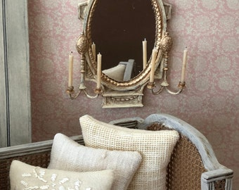 Miniature French Rocco Mirror, French Country Miniatures, Miniature Mirror