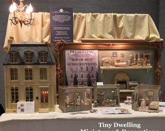 Tiny Dwelling Miniatures, Tiny Dwelling, Dollhouse Furniture, French Provencal Miniatures
