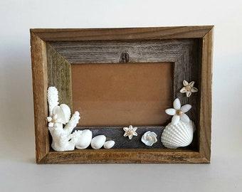 Seashell Flower Picture Frame