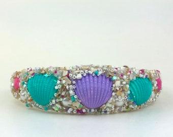 Mermaid Crown, Seashell Crown, Mermaid Costume, Mermaid Party, Beach Wedding, Boho Headdress, Festival Crown, Beach Photos, Pride Crown