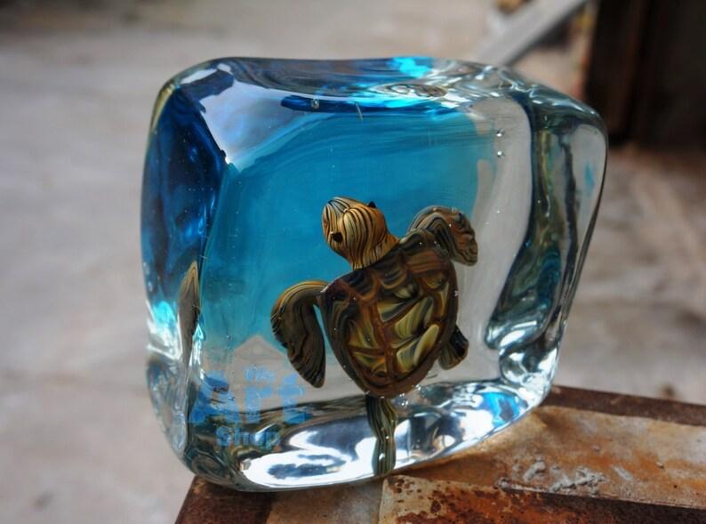 Scultura Cubo In Blu Di Tartaruga Vetro SerbatoioEtsy 35RjLAq4