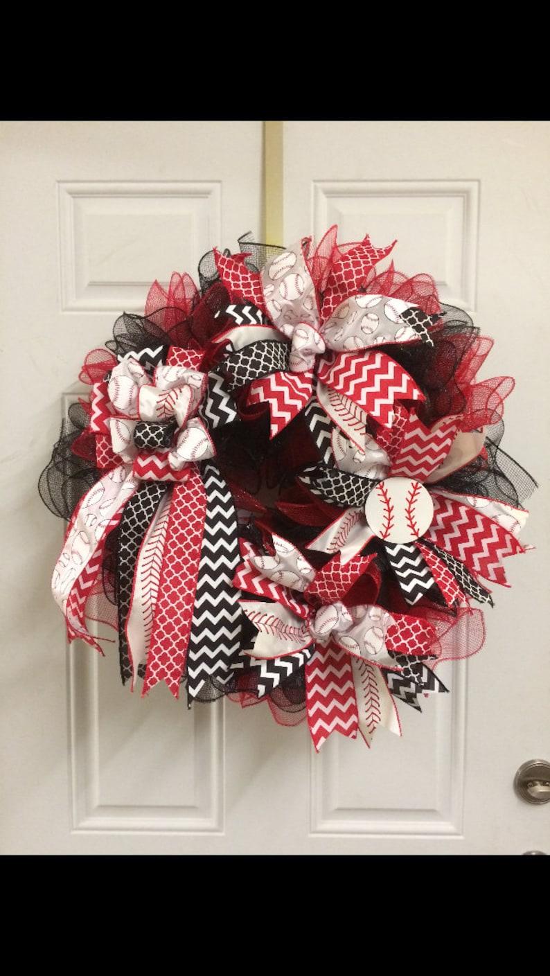 Baseball Wreath