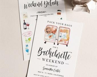 Beach Bachelorette Party T9 Summer Bachelorette Party Invitation Bachelorette Weekend Tropical Bachelorette Party Invitations Printable