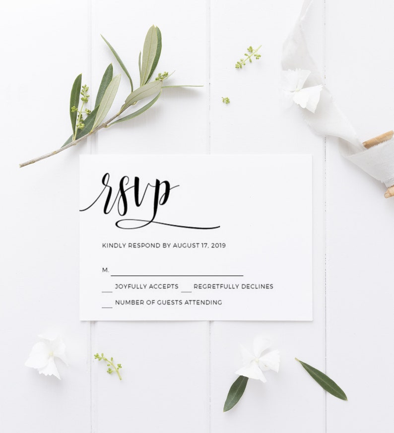 image regarding Printable Rsvp Cards titled Wedding day RSVP Playing cards template Invitation increase Printable rsvp playing cards Personalized marriage Rustic rsvp card Reply playing cards Templett Obtain #43Fd