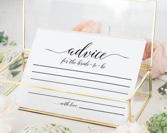 Advice for the bride to be Bridal shower decorations Bridal shower decor Rustic Bridal shower games Bachelorette party Advice cards FDED1