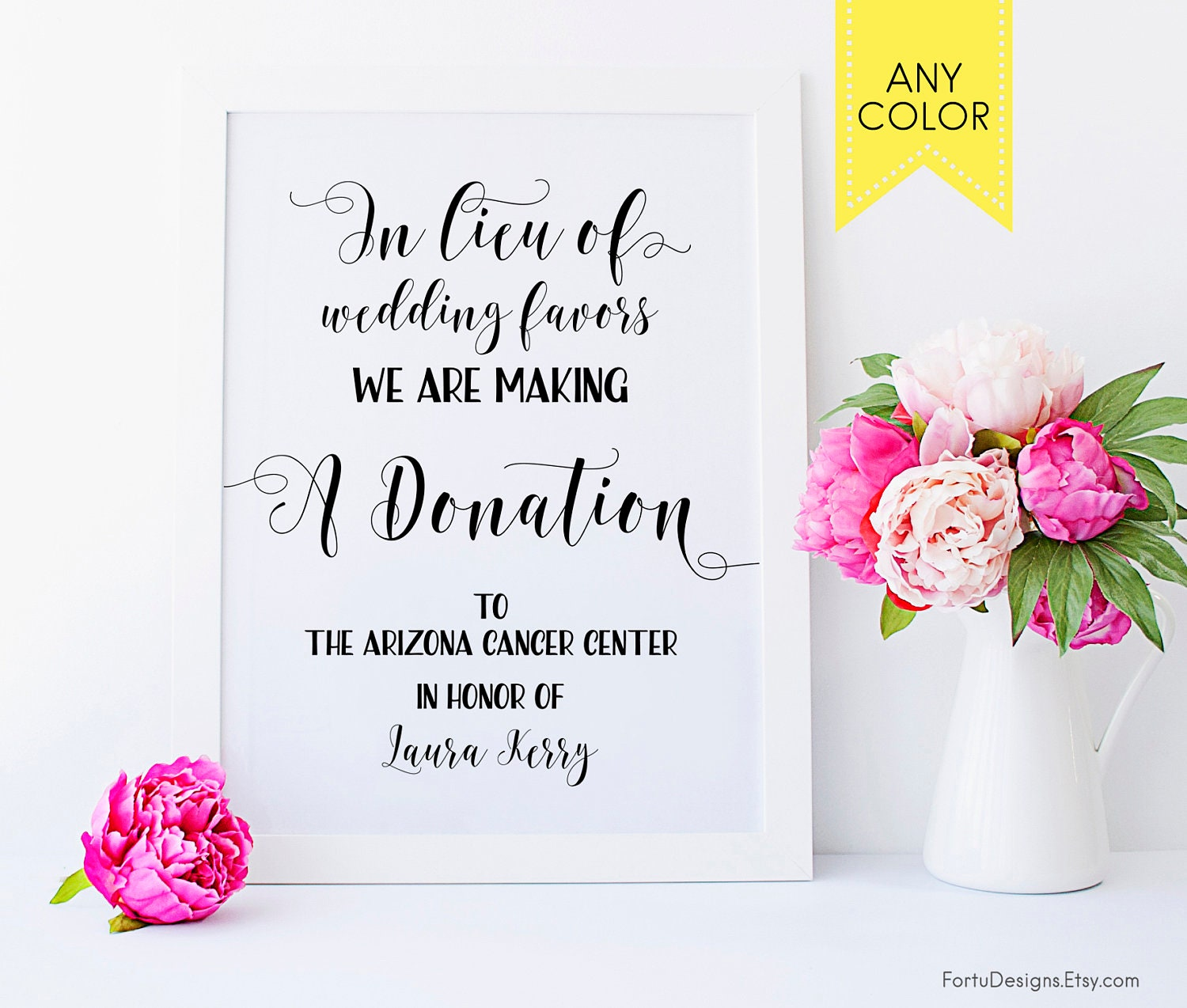 Exelent Donations Instead Of Wedding Favors Component - The Wedding ...