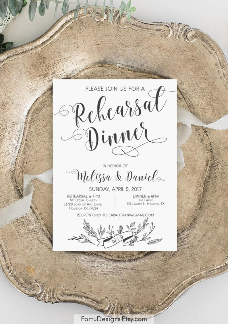 image about Printable Rehearsal Dinner Invitations named Rehearsal evening meal invitation printable Rehearsal invitation Rehearsal decor Options Rehearsal invitations Rustic rehearsal invite Marriage ceremony rehearsal