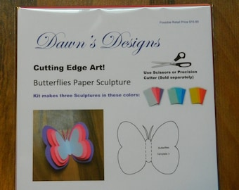 Butterflies Paper Art Kit for Kids