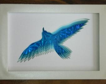 3D Paper Sculpture Bird Circling