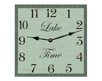 Lake Clock- Square Lake Time Clock