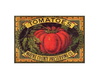 Fruit Crate Label-Tomato Label