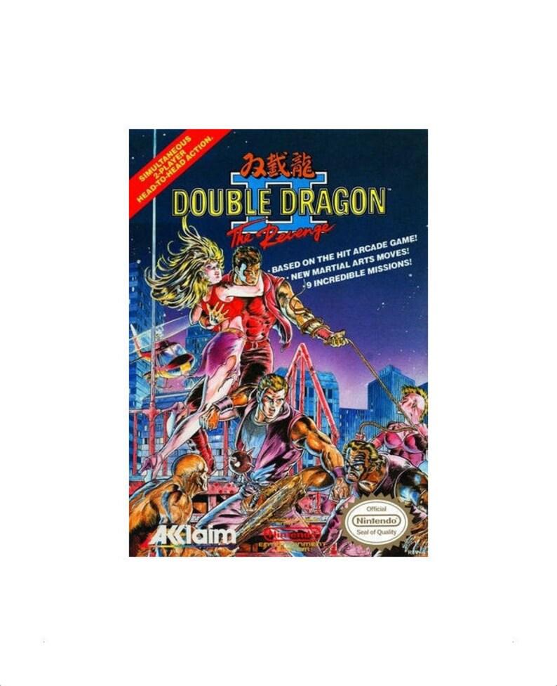 Double Dragon Ii The Revenge Nintendo Nes Video Game Cartridge Etsy