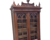 Marvelous French Gothic Bookcase, Medieval, 19th Century, Walnut 10260
