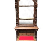 Antique French Display Cabinet with Secretary, Oak, 1900-1920 39 s 9297