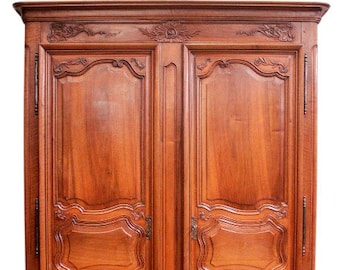 Simple U0026 Elegant Antique French Normandy Armoire, 18th Century, Walnut #9290