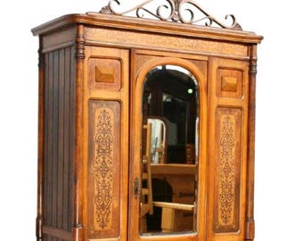Antique French Thonet Armoire, Beautiful Design, 1900-1920's #8506